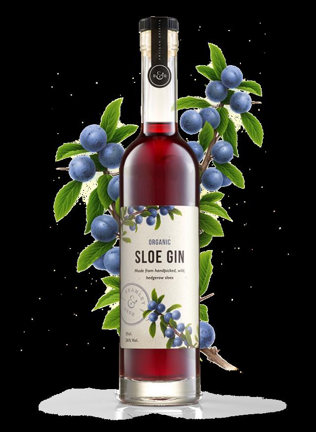 Organic Sloe Gin (35cl)  26% ABV.