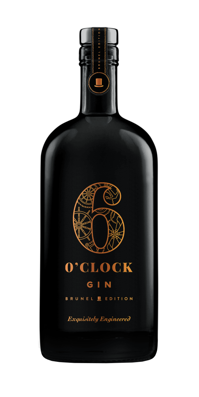 6 O'clock Gin Brunel Edition (70cl)  50% ABV.