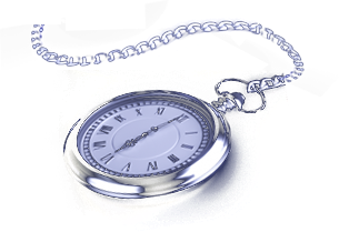A stop watch graphic