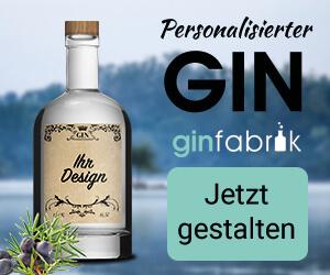 5€ Rabatt auf Gin mit persönl. Etikett
