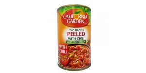 California Garden Fava Beans Peeled with Chili (400g)