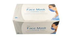 DR Disposable (Blue/Pink) Facemask Tie-on (50 masks)