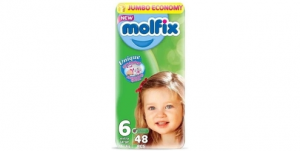 Molfix Extra Large Baby Diapers - Size 6 (48 Diapers)
