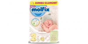 Molfix Diapers Economy Pack - Size 2 (60 Diapers)