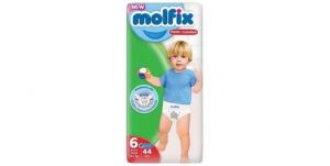 Molfix Pants Diapers 6 X-Large, 15+ Kg (44 Diapers)