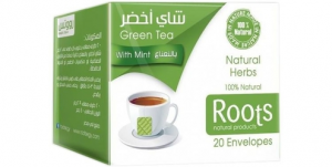 Roots Green Tea with Mint (20 Envelopes)