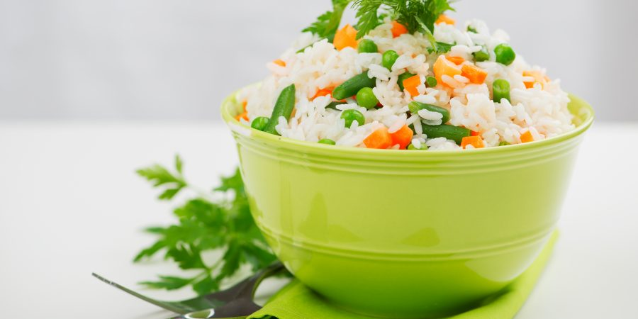 Easy Rice with Peas and Carrots