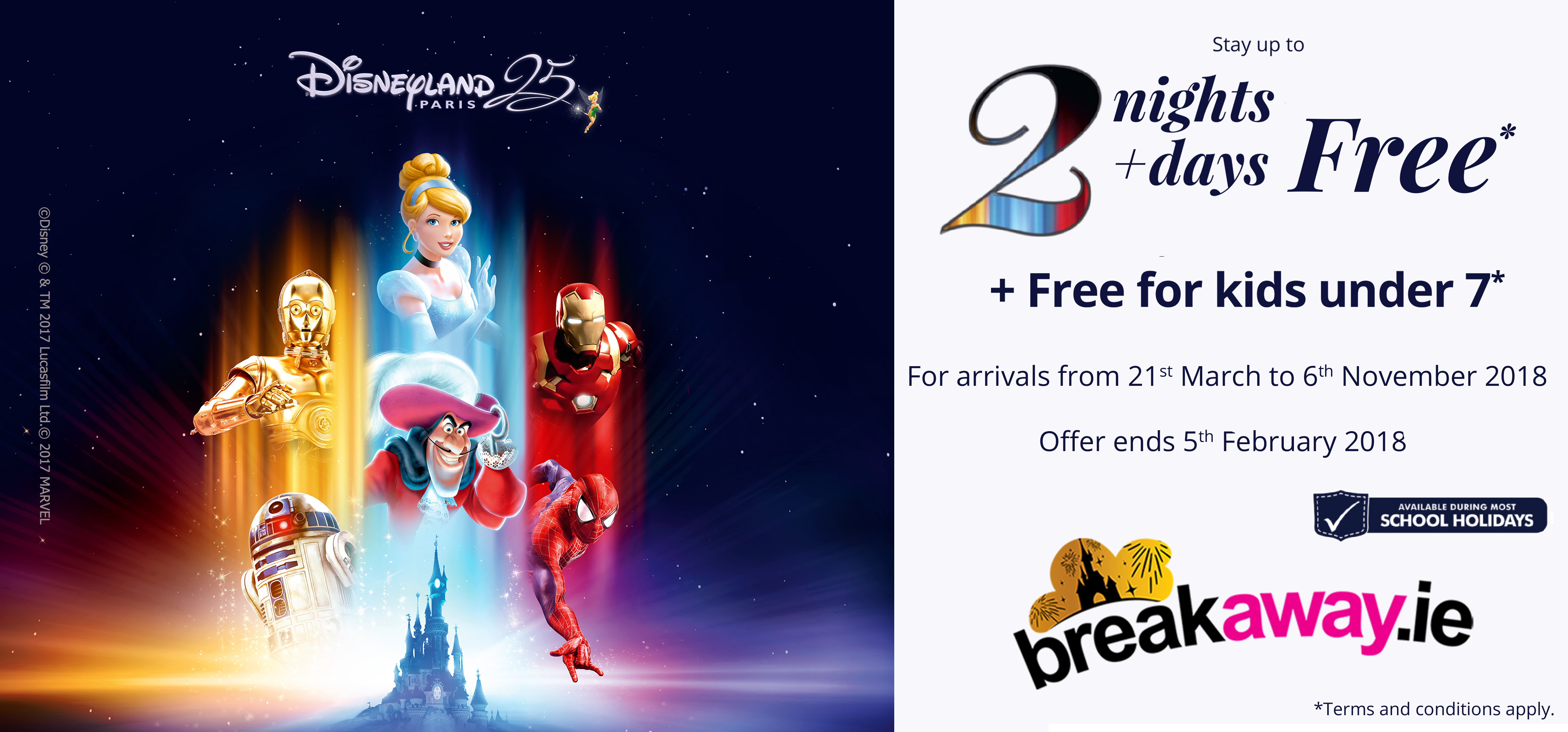 Save 25% on your trip to Disneyland Paris