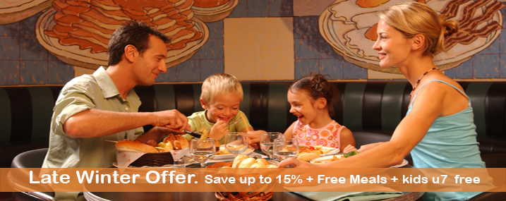 15% and Free Meals