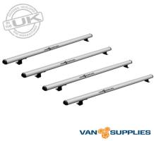 Renault Trafic / Vauxhall Vivaro / Fiat Talento Roof Rack 4x Aluminium Bars 2015 On SWB LWB Low Roof,stockcode:RB050-4