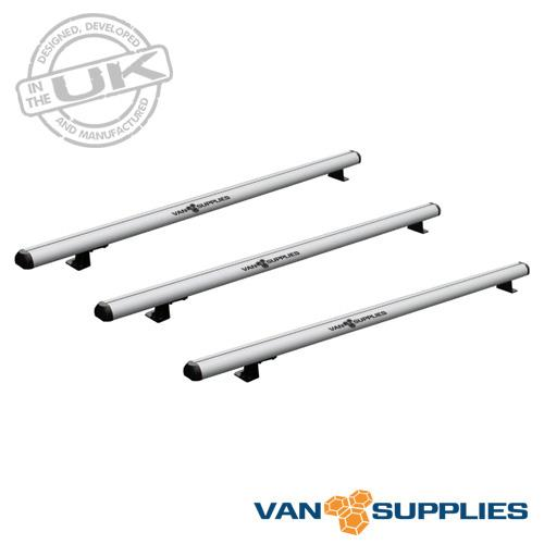 VW Transporter T5 T6 Roof Rack 3x Aluminium Bars 2002 On SWB LWB Low Roof, stockcode:RB140-3