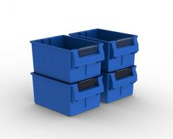 EasiStor Storage Bins x 4 (To Fit 1120mm Units),stockcode:UMB355-4