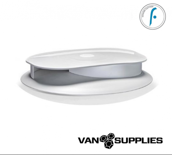 Flettner Slimline LPV Van Wind Driven Rotating Roof Vent - White, stockcode:VSA0009
