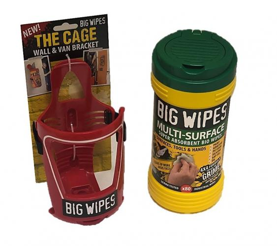 Big Wipes Multi-Surface + The Cage Wall & Van Bracket, stockcode:VSA0026