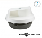 Flettner 2000 + Adaptor Wind Driven Rotating Roof Vent - White,stockcode:VSA0021