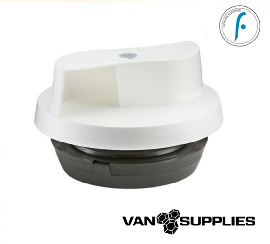 Flettner 2000 + Adaptor Wind Driven Rotating Roof Vent - White, stockcode:VSA0021