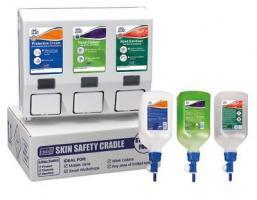 Deb Skin Safety Van Cradle Triple Starter Pack Inc Hand Cream Cleanser Sanitiser,stockcode:520-0023