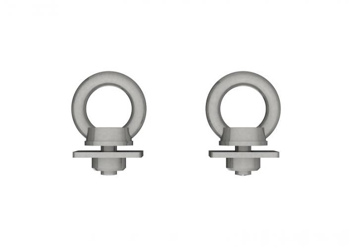Pair of EasiBar Stainless Steel Eye Bolts, stockcode:EBN2