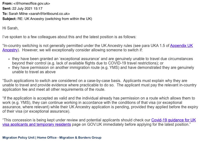 Applying For A Uk Ancestry Visa Inside The Uk