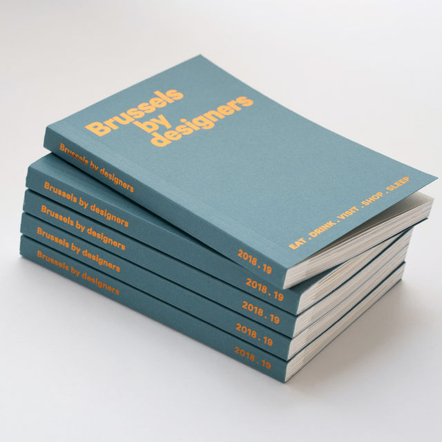 Brussels by designers, the new favourite guide (limited edition)