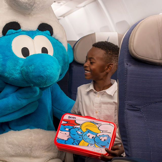 The Smurfs travel with Brussels Airlines