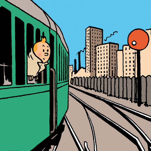 Tintin at Train World