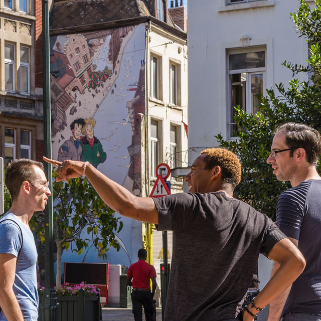 Discover Brussels and its comic walls with a local !