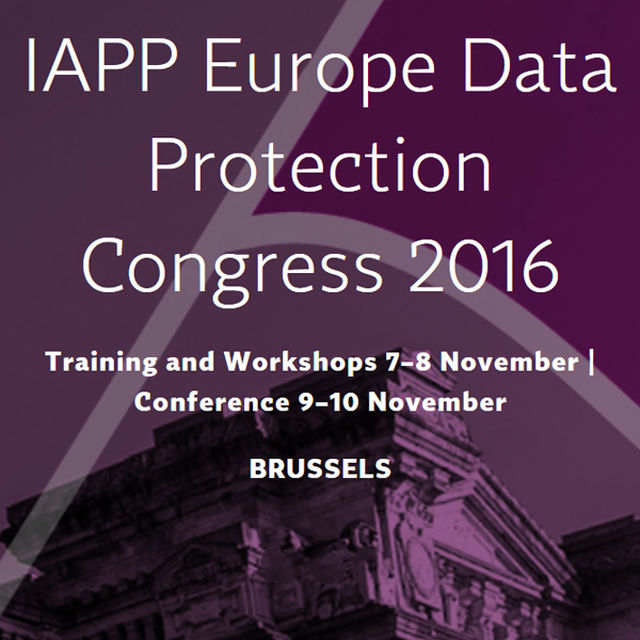 IAPP Europe Data Protection Congress 2016