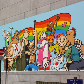 The walls of the comic strip walk in detail | Visit Brussels