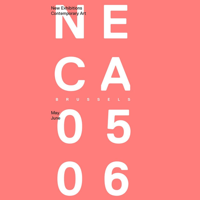 Flyer NECA, New Exhibitions of Contemporary Art