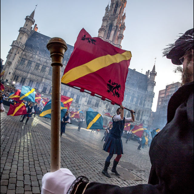 Folklore in Brussel: Ommegang