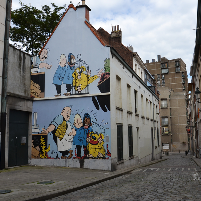 Comic strips in Brussels