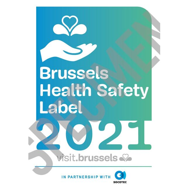 The label focussing on health safety for the Brussels tourism sector