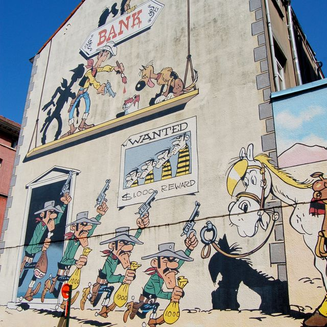 Mural del cómic «Lucky Luke»