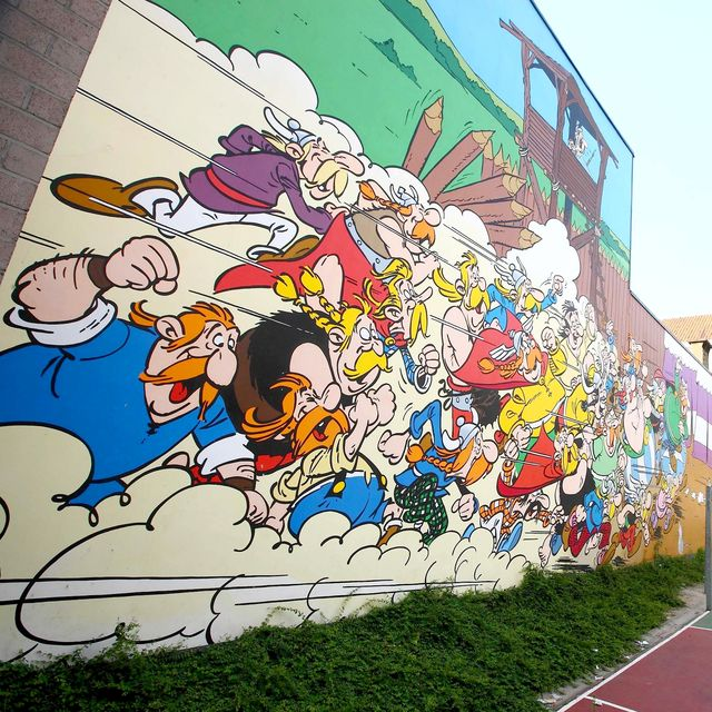 Astérix Obelix Comic Strip Wall Visit Brussels