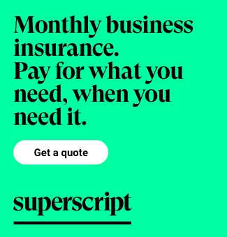 Monthly business insurance. Pay for what you need, when you need it.