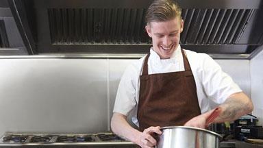 chef prepairing food