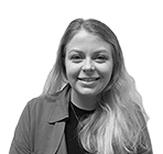 A black and white photograph of Catherine Davies, a company formation executive & team supervisor at Rapid Formations.