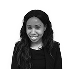 A black and white photo of Kariesha Lawson, a ccompany formation executive at Rapid Formations.