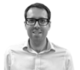 A black and white photograph of Paul, Head of Sales at Rapid Formations.