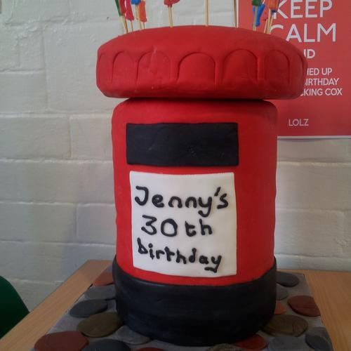 Jen's 30th birthday cake