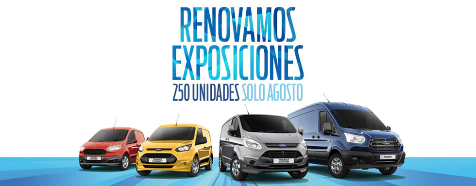 Renovamos exposiciones 250 unidades