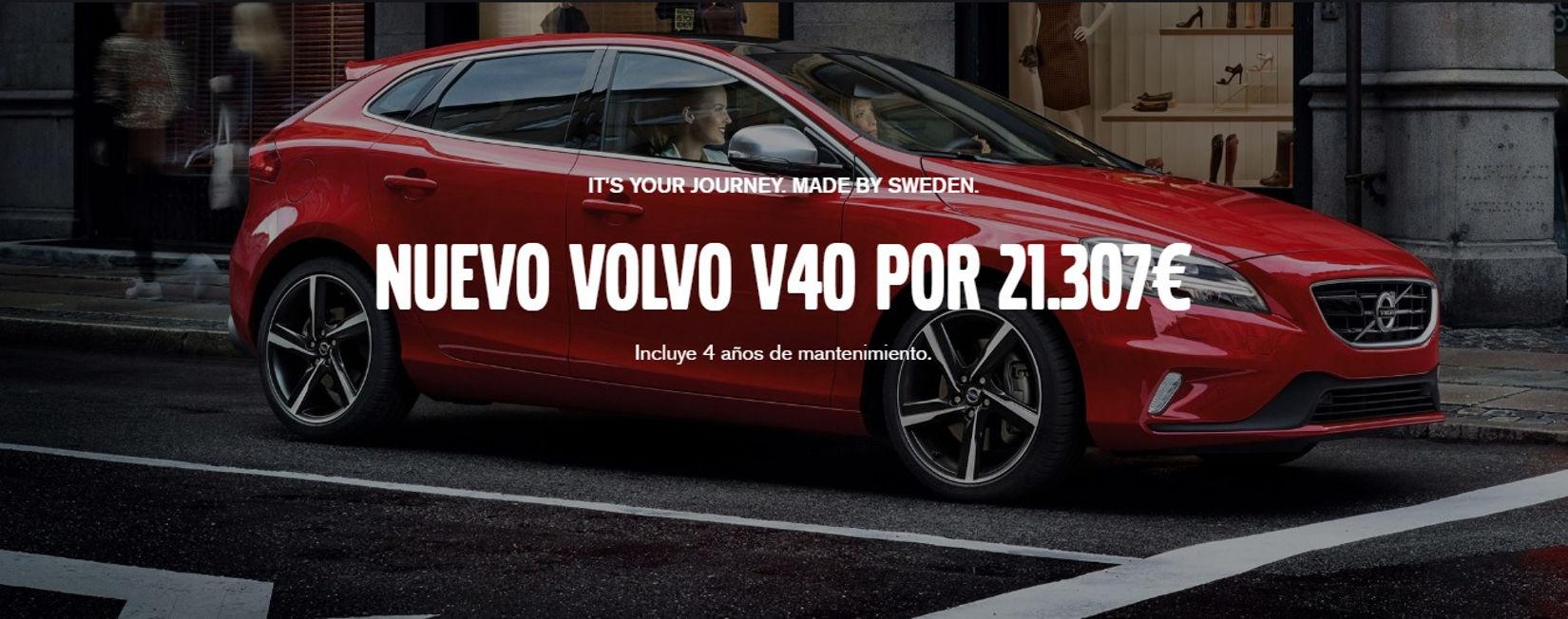 Nuevo Volvo V40 por 21.307€