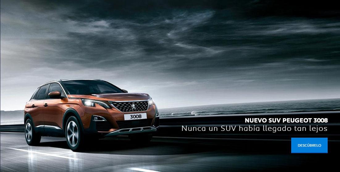 NUEVO SUV PEUGEOT 3008 EN TU CONCESIONARIO.