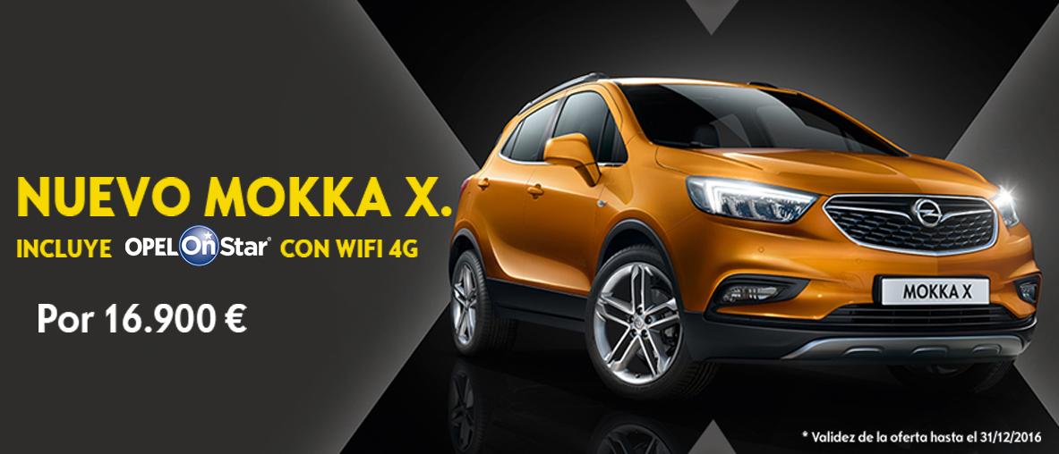 Nuevo Mokka X con Onstar y wifi 4G 16.900€
