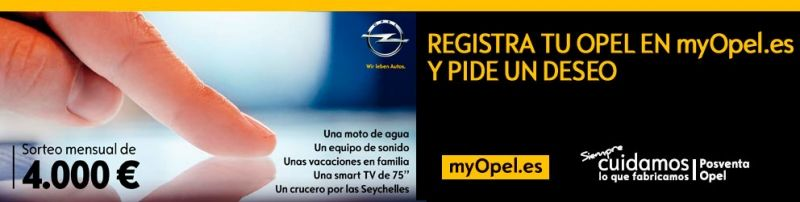 Tener Opel tiene premio en myOpel.es