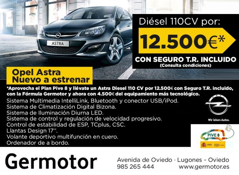 Tu Opel Astra nuevo a estrenar desde 12.500€ y Seguro a Todo Riesgo INCLUIDO!!!