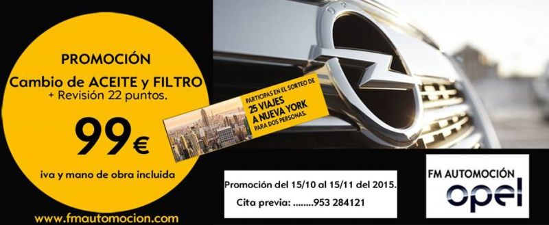PROMOCION CAMBIO ACEITE Y FILTRO