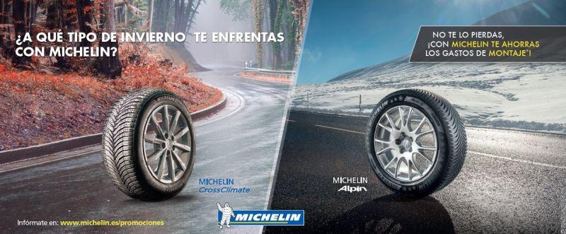 Gastos de montaje gratis en Neumáticos Michelin