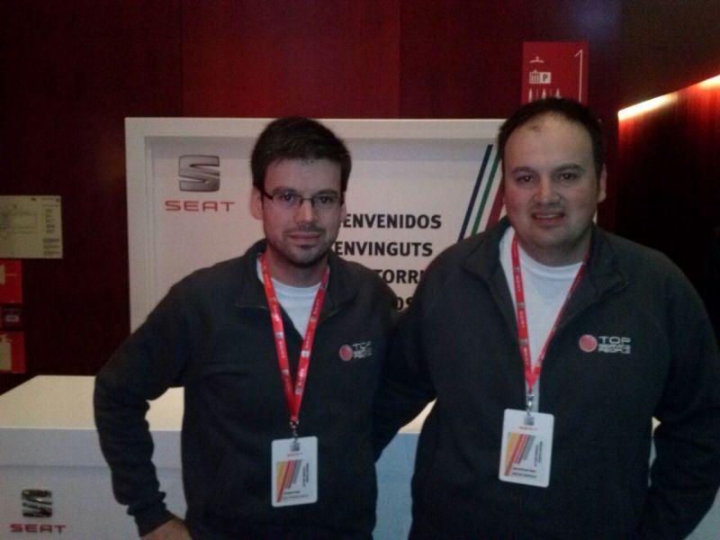 Juan y Eduardo Pérez Donoso en la final nacional de la 16.ª edición del Top Service People